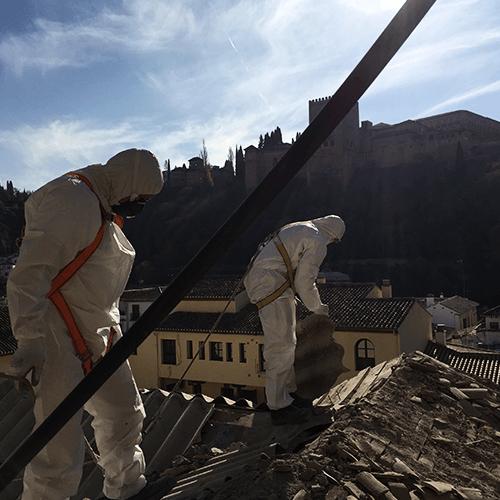 Descontaminación de amiantos